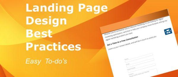 landing page design best practice, by CloudAnalysts