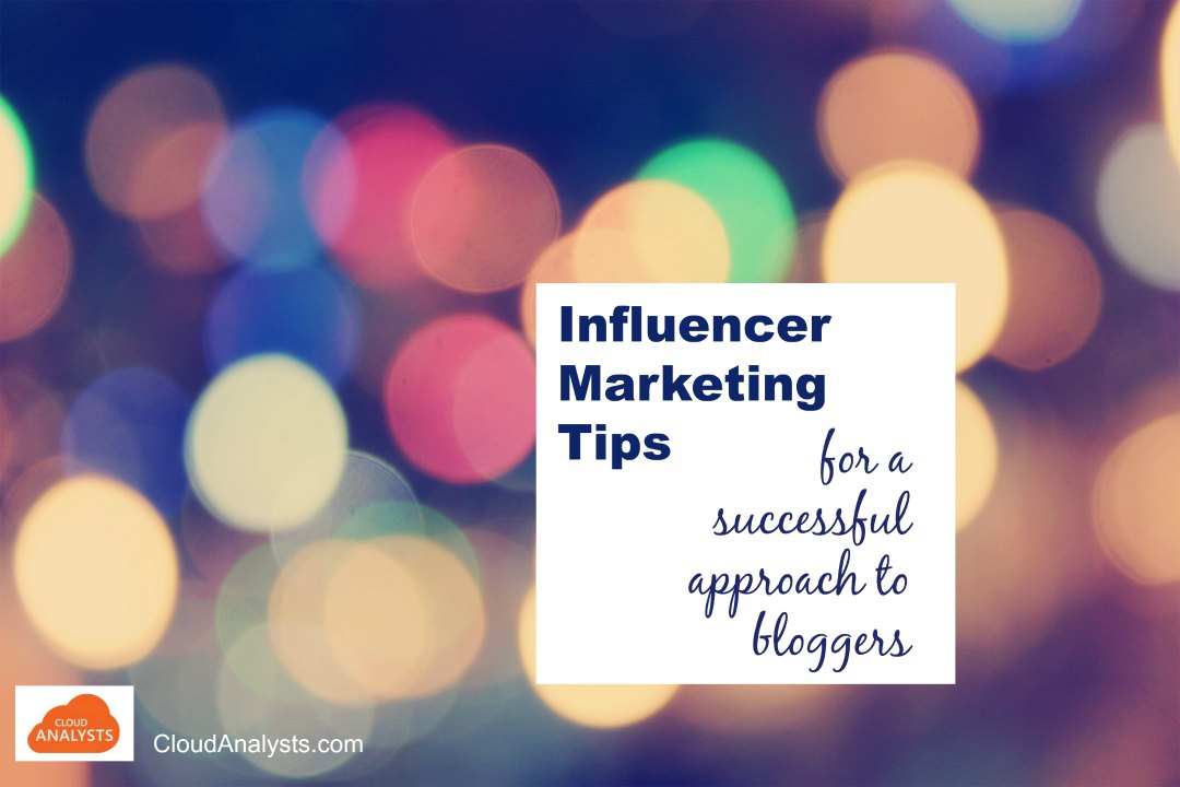 Influencer marketing tips by CloudAnalysts.com