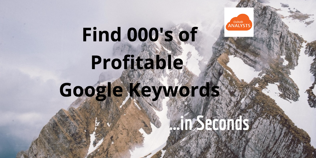 Google keywords SEO Specialist Tools - CloudAnalysts